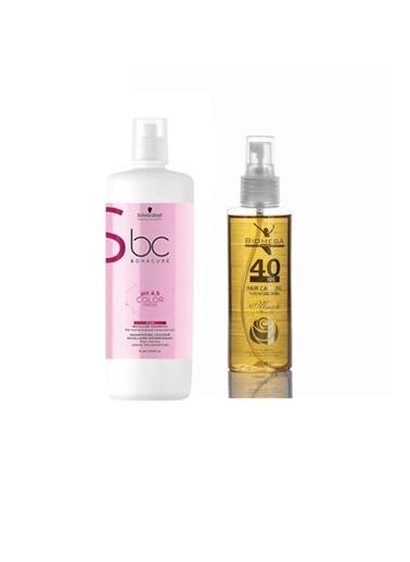 Bonacure 4.5 Color Silver Gümüş şampuan 1000 ml+Biomega 40 Bitkili Doğal Saç Bakım Yağı 150 ml Renksiz
